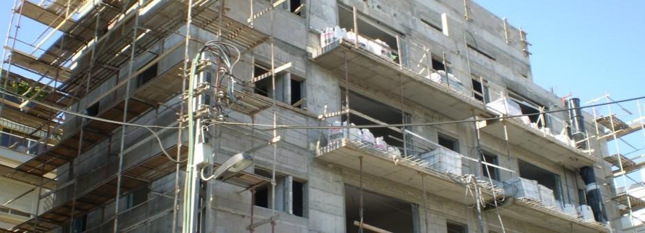 סיום שלד - בניין בתל אביב 2015 ...